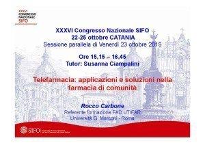 Relazione Carbone SiFO 23 ottobre 2015